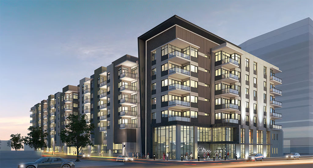 Exterior rendering of Edison Midtown in Phoenix