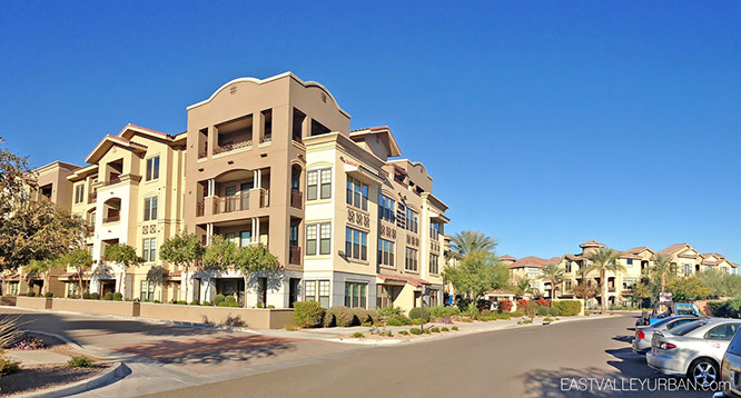 View of exterior of building within Artesia complex in Scottsdale