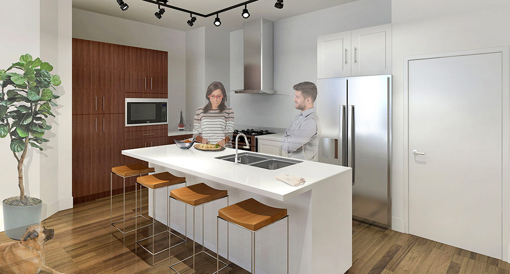Kitchen rendering of Edison Midtown in Phoenix