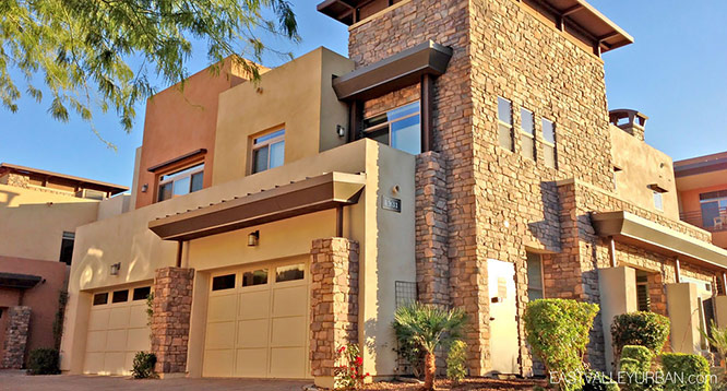 Exterior view of Sage condominiums in Scottsdale