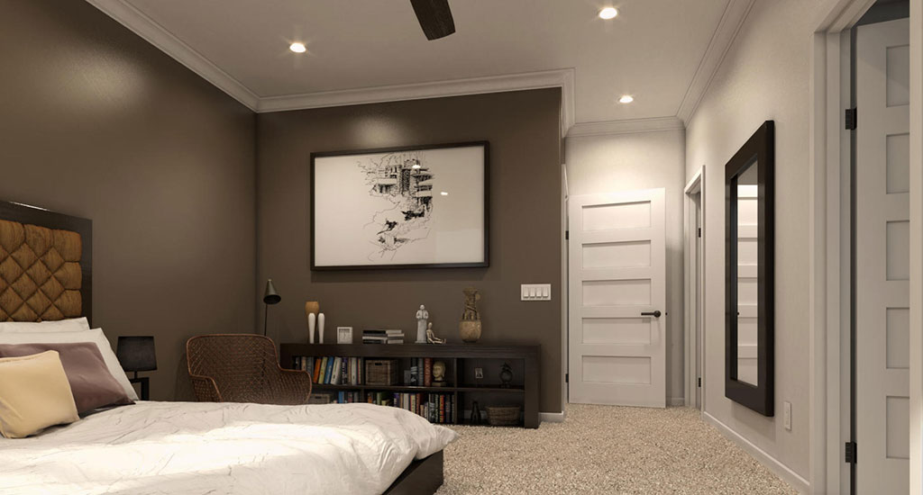 Bedroom rendering at Center 8 in Phoenix, AZ