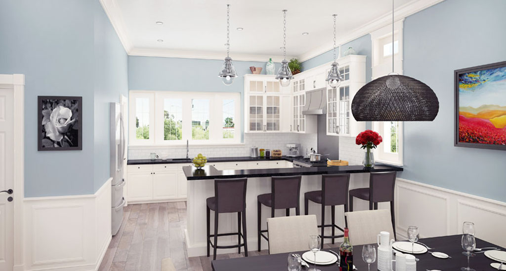 Kitchen rendering at The Rosedale Residences in Phoenix, AZ