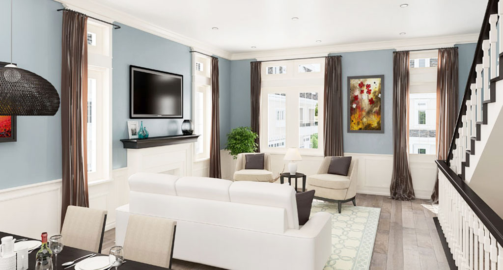 Interior rendering of The Rosedale Residences in Phoenix, AZ