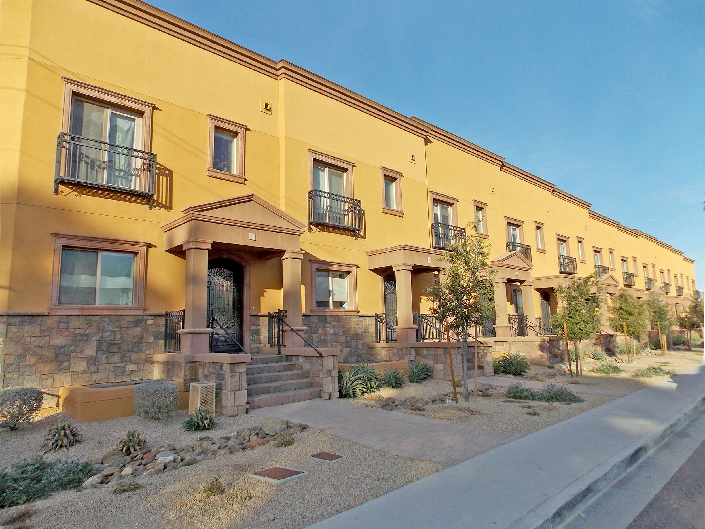 View of Exterior Brownstones at Bitlmore, Scottsdale, AZ
